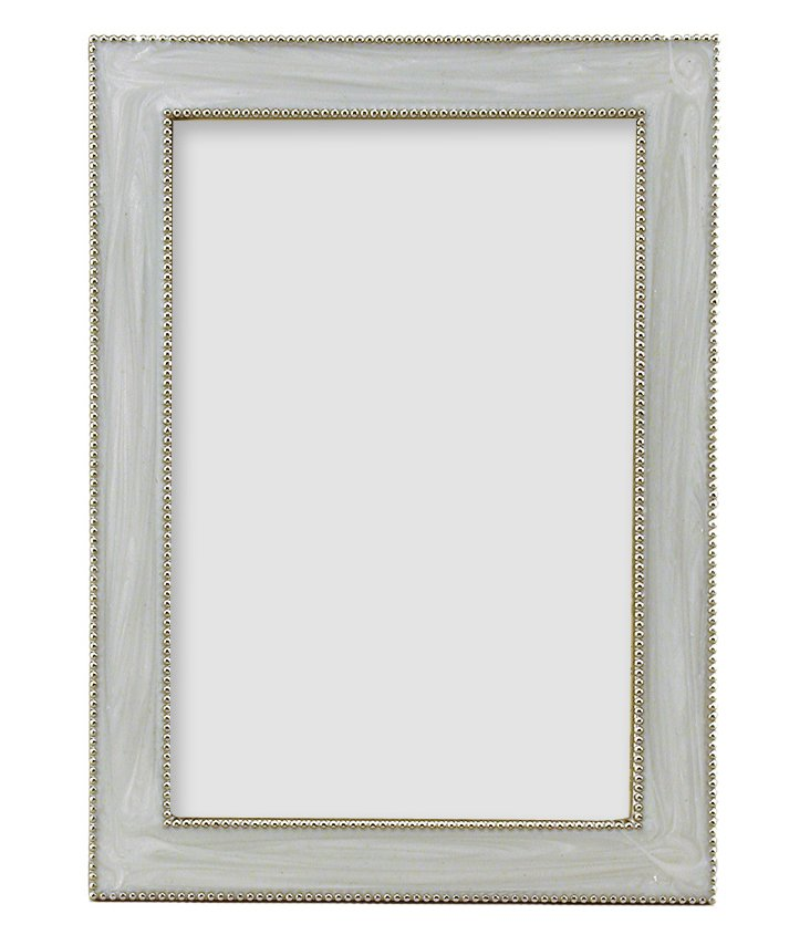 Beaded Frame, 8x10, White