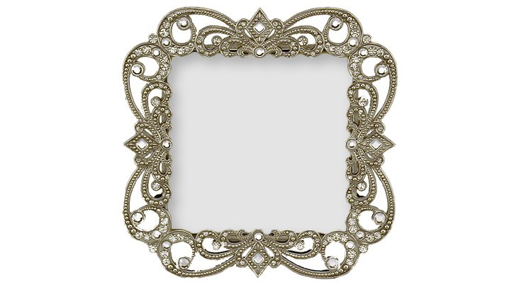 Risque Frame, 3x3, Pewter
