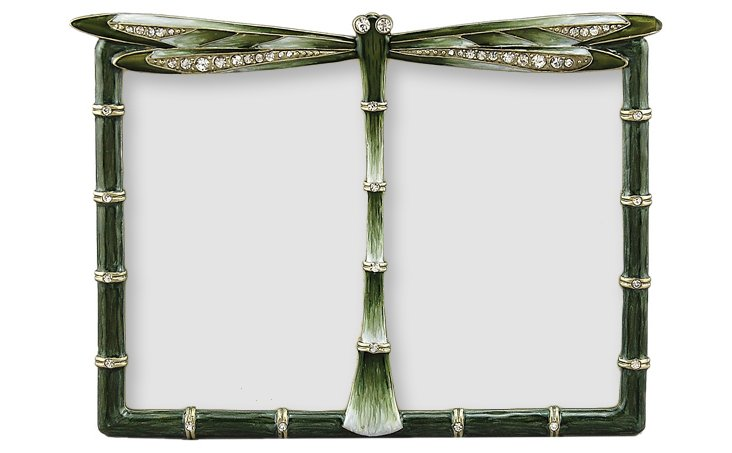 Dragonfly Double Frame, 3x5, Olive