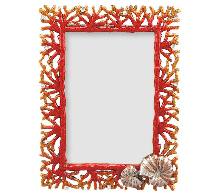 Shell Coral Frame, 4x6, Red