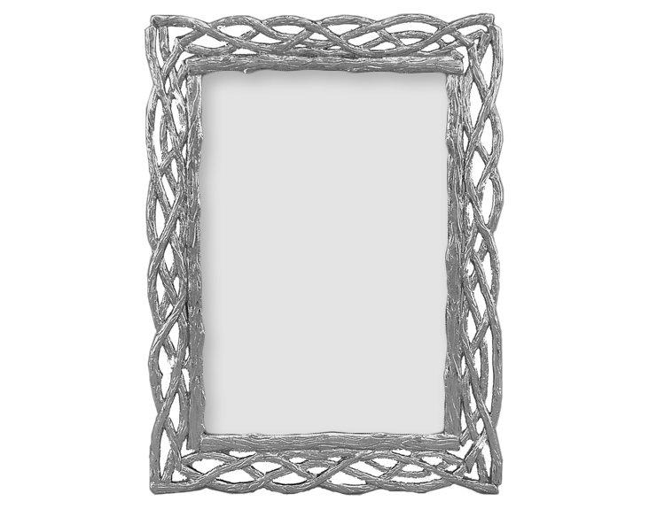 Trellis Frame, 4x6, Silver