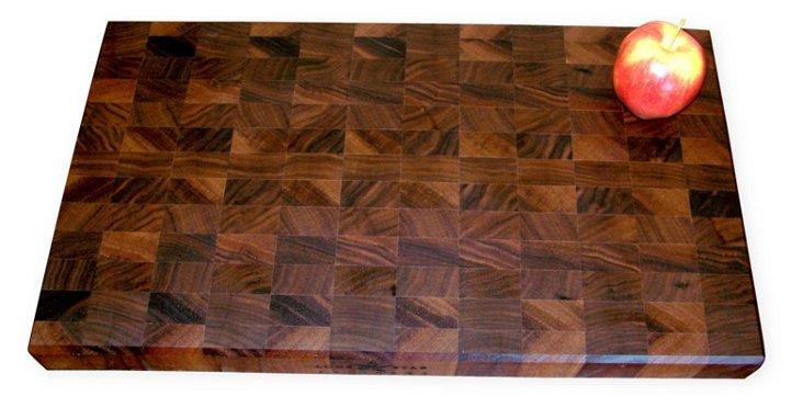 End-Grain Walnut Cutting Board, Large