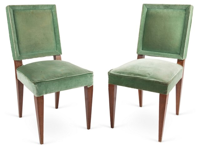 Andre Arbus Dining Chairs, Pair