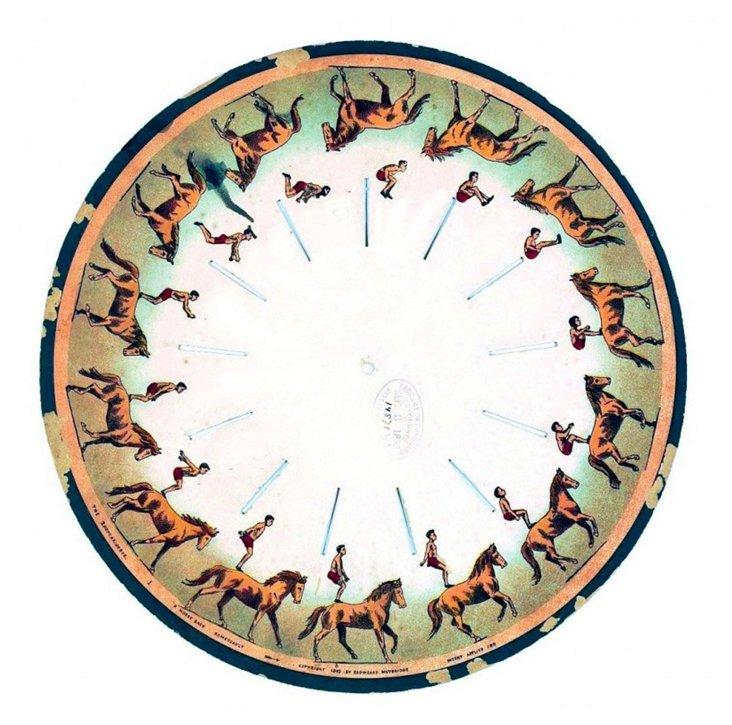 Circular Horse Framed Print