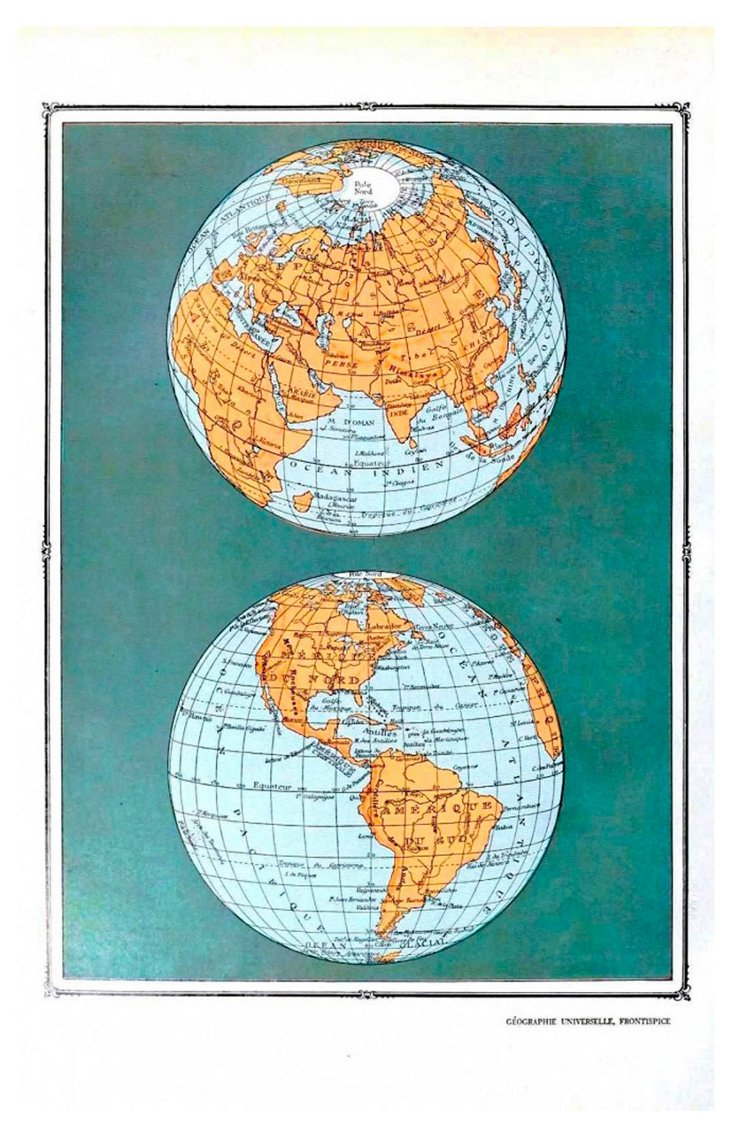 Celestial Globes I Framed Print