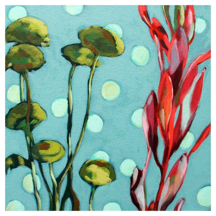 Erin McIntosh, April Flowers Teal Dots