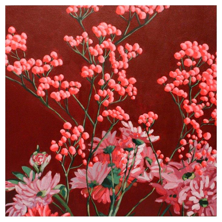 Erin McIntosh, April Flowers Burgundy