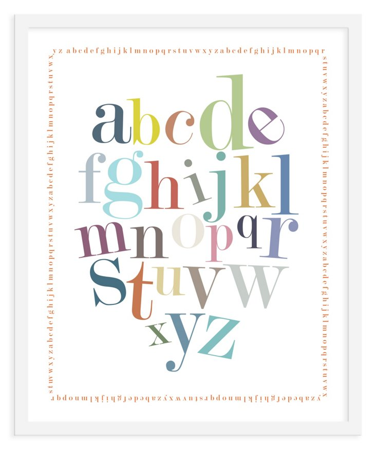 ModernPOP, Alphabet Border Print