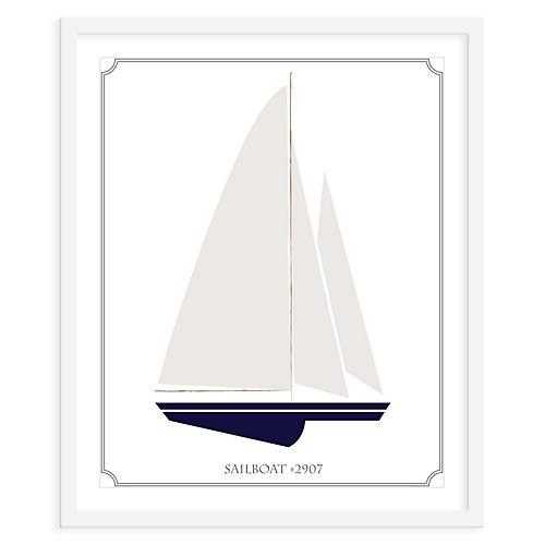 ModernPOP, Sailboat Left, Mini