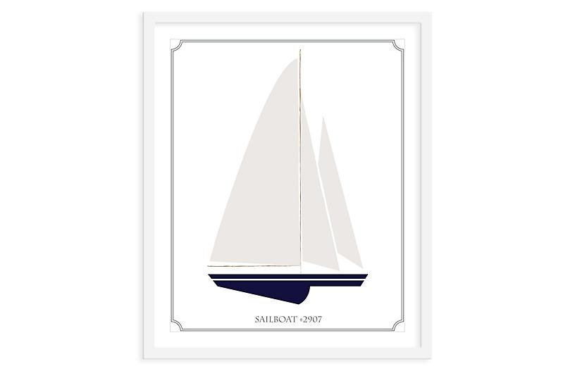 ModernPOP, Sailboat Left, Mini