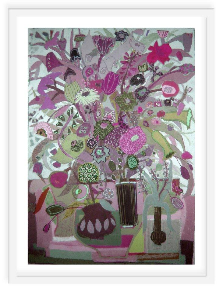 Liz Innvar, Three Pots of Flowers