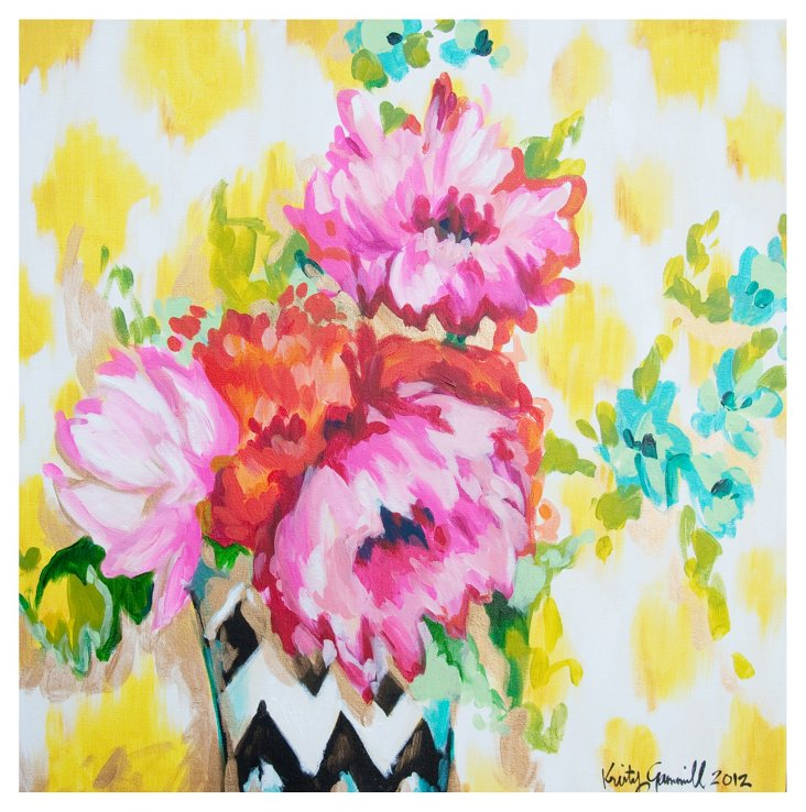 Kristy Gammill, Floral on Yellow