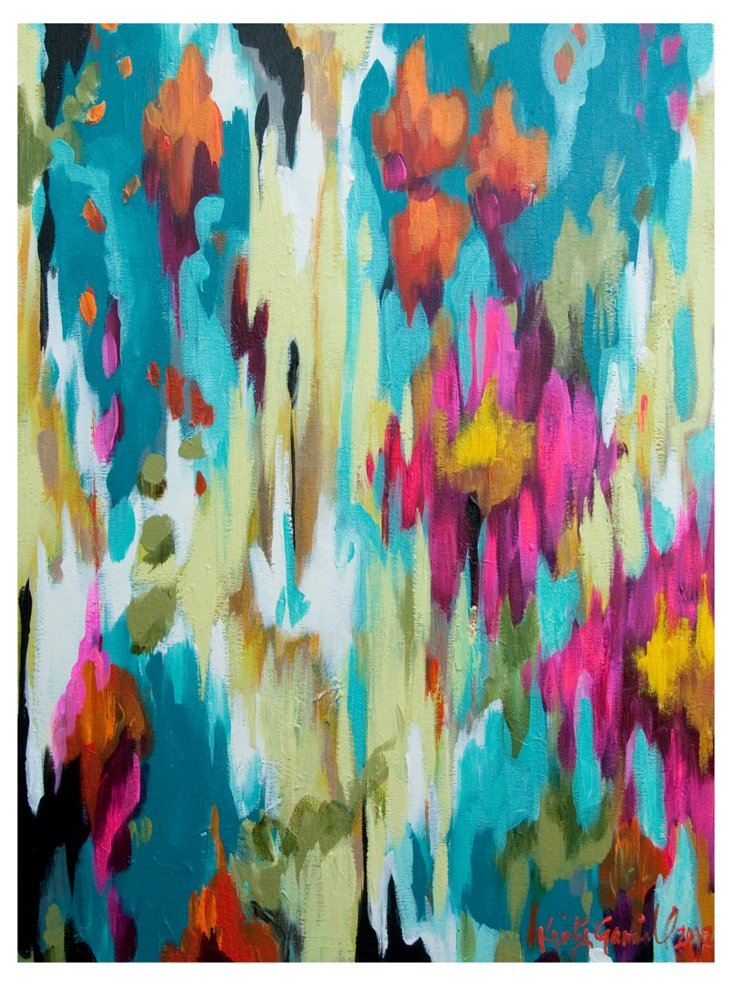 Kristy Gammill, Turquoise Abstract