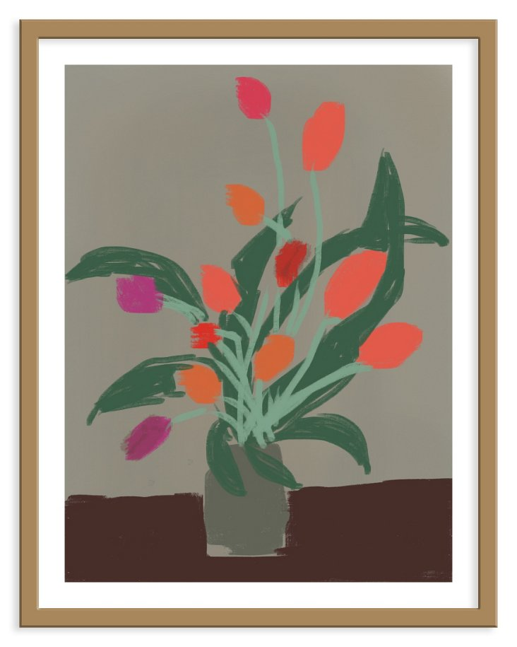 Liz Innvar, Orange & Magenta Tulips