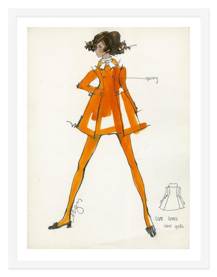 Kay Unger, Pumpkin Coat Dress