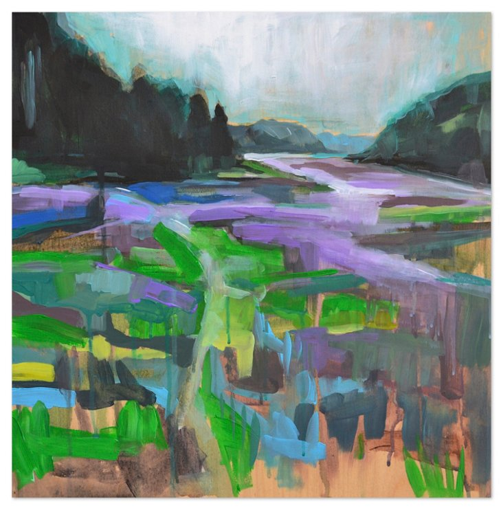 Kate Mullin, Purple & Green Landscape