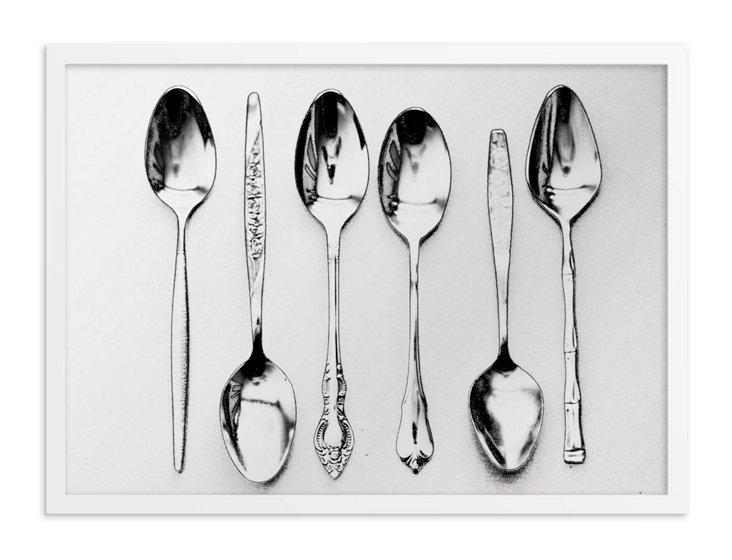 Vintage Spoons Printed Mirror, Large