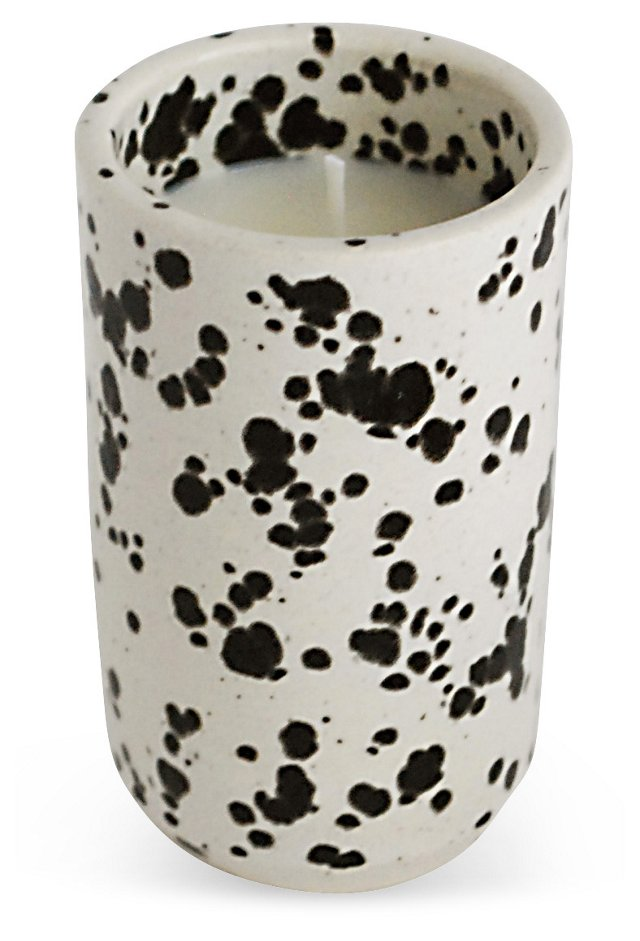 Black & White Candle, Rose Patchouli