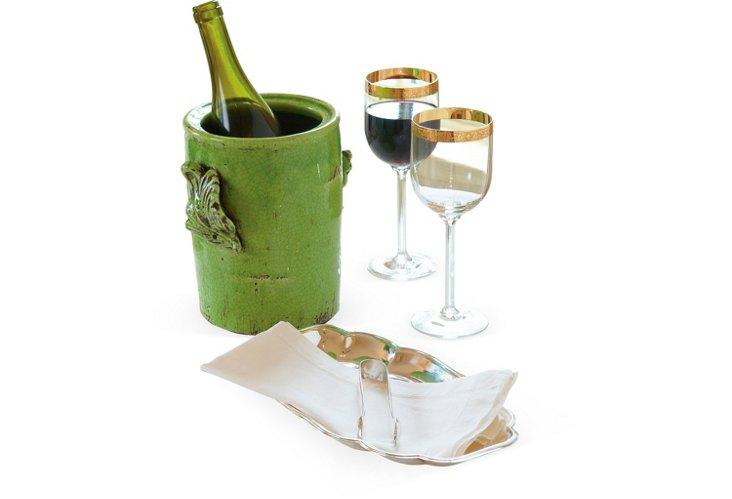 Acanthus Wine Chiller, Green