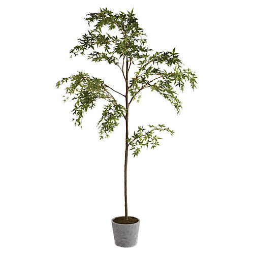 "85"" Maple Tree in Planter, Faux"