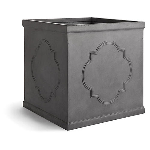 "22"" Quartrefoil Planter, Lead"