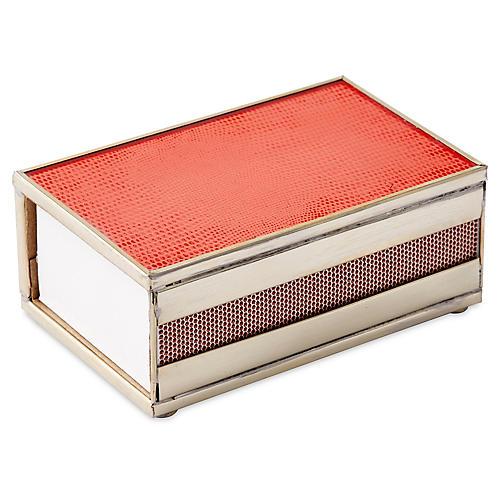 "5"" Lizard Matchbox, Orange/Nickel"