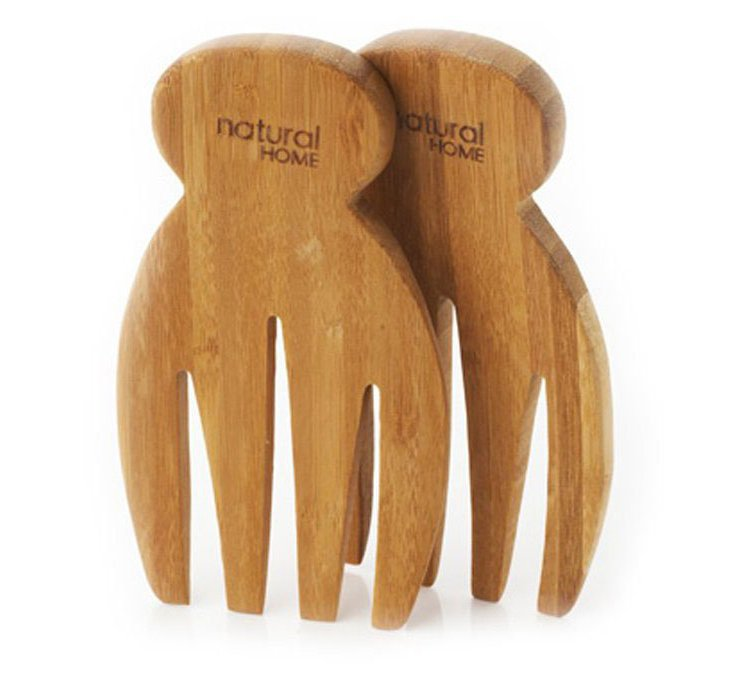 S/2 Bamboo Salad Hands