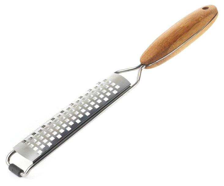Stainless Grater w/ Bamboo Handle