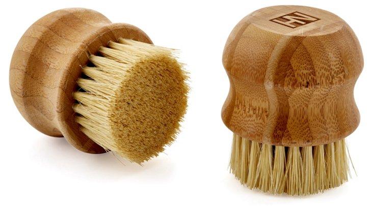S/2 Veggie Brushes, Bamboo