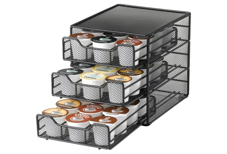 36 Coffee Pod Holder, 3-Tier Drawer