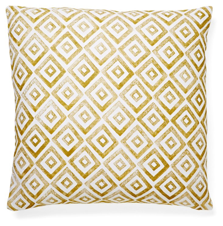 Morris 20x20 Linen Pillow, Gold