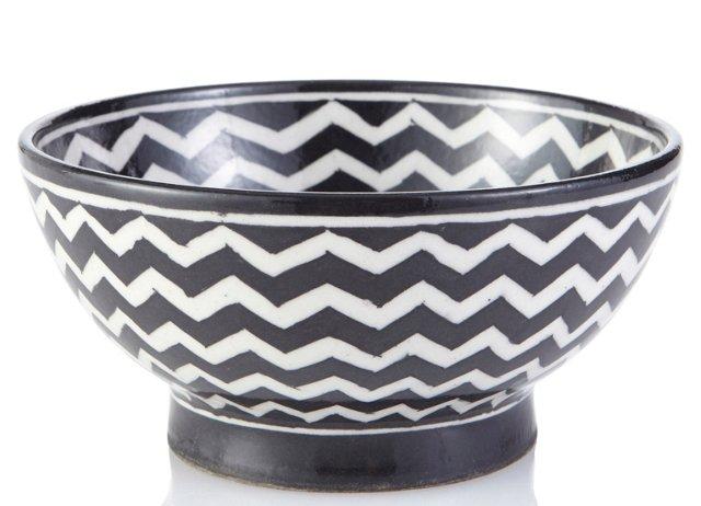 Chevron Bowl, Black and White