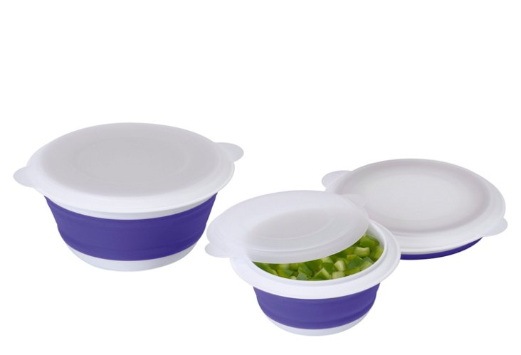 Asst. of 3 Collapsible Storage Bowls