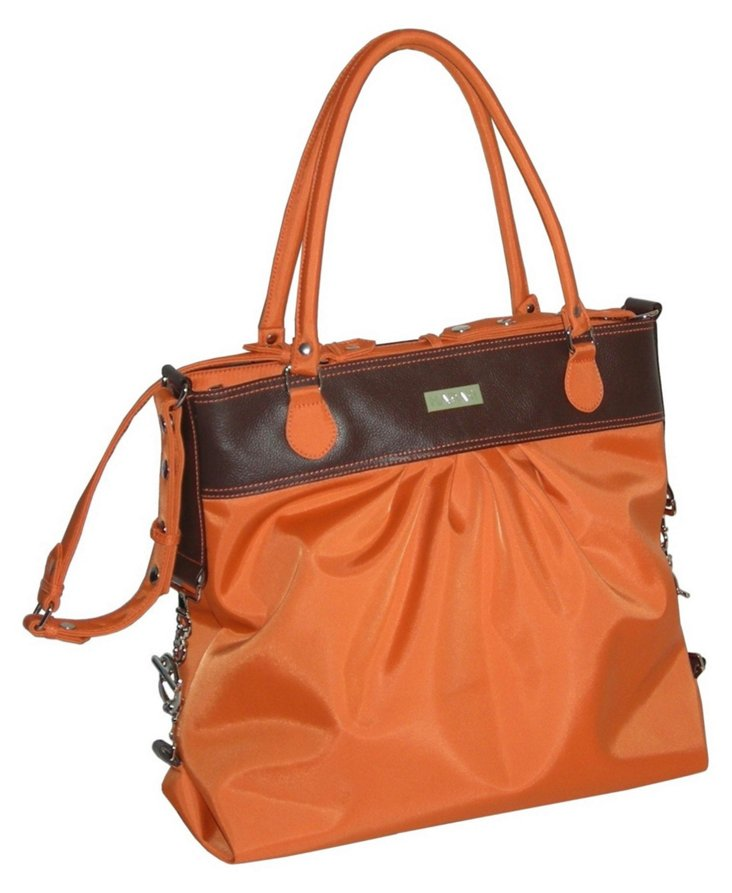 Cross-Body Tote, Orange