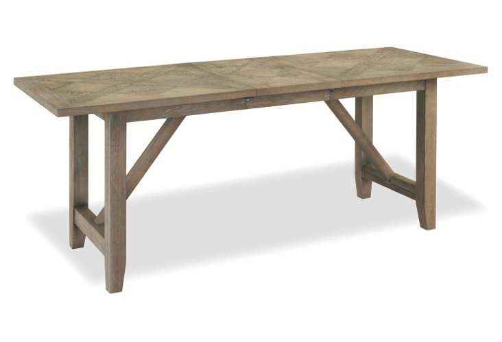 bates 78 dining table distressed gray one kings lane