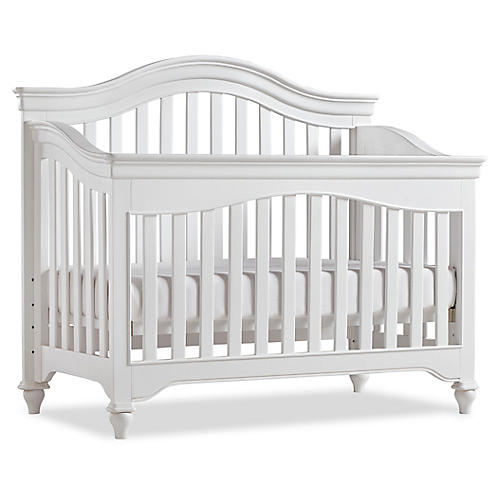 Mason Curved Crib, White