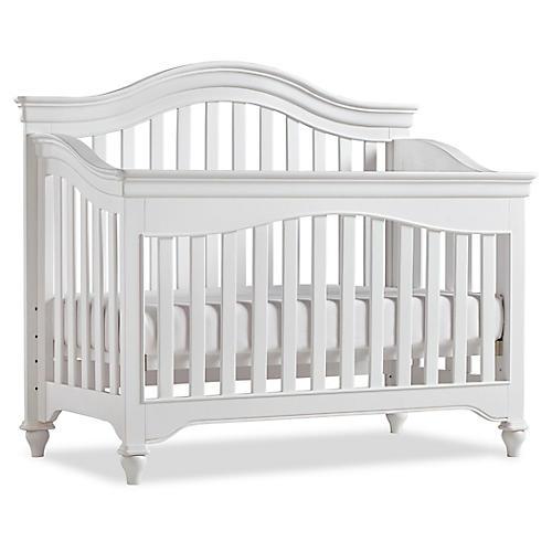 Mason Curved Crib, White