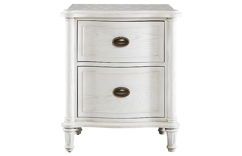 Vaira Nightstand, White