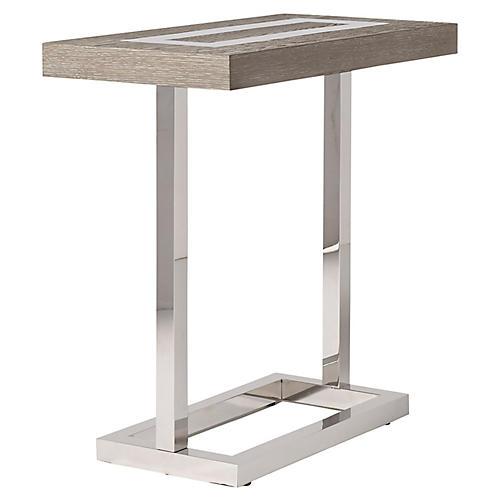 Wyatt Side Table, Silver