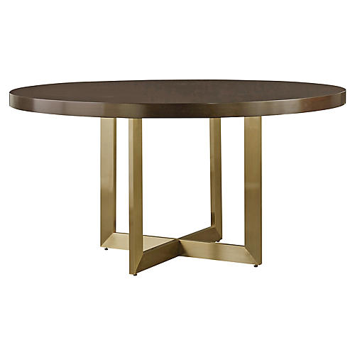 Gibson Round Dining Table, Mahogany