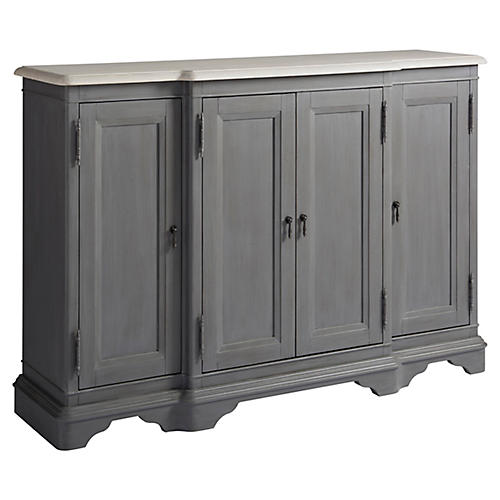 Bungalow Bar Cabinet, Gray