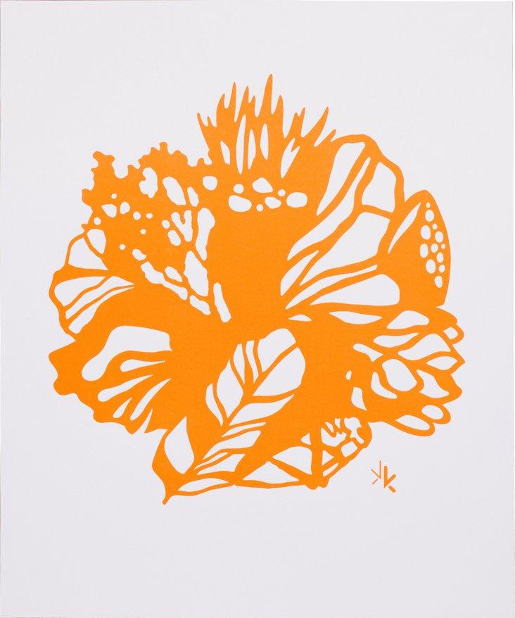 Karen Kimmel Silkscreen Print, Orange