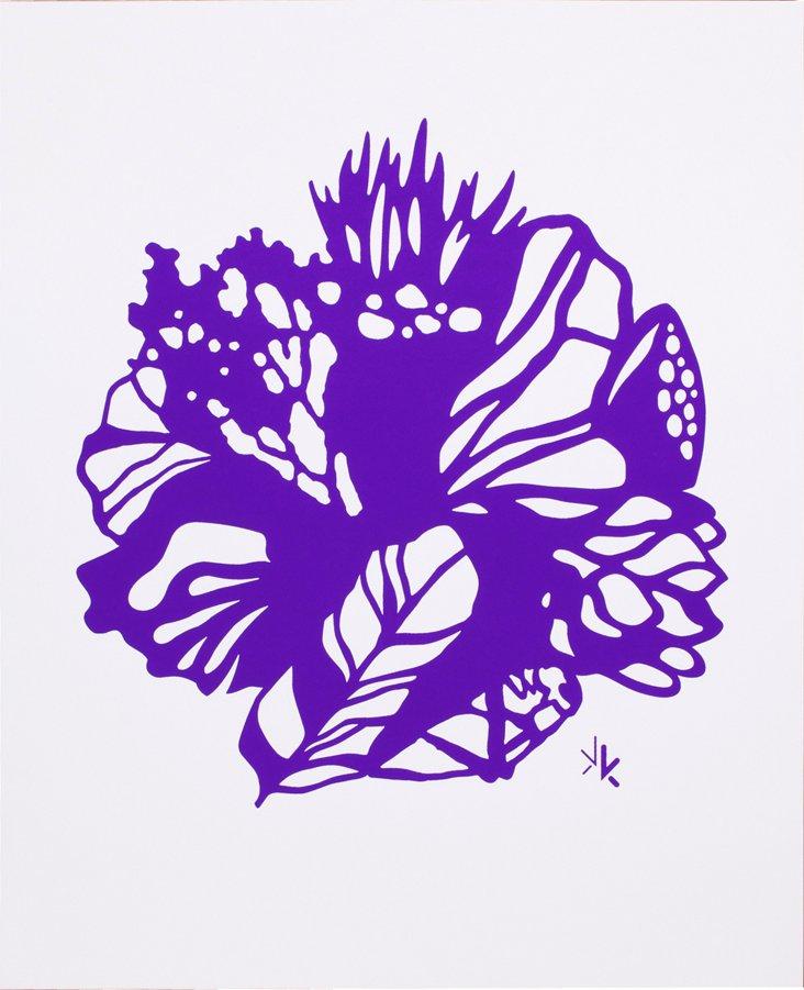 Karen Kimmel Silkscreen Print, Purple
