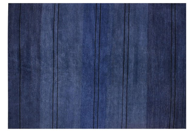 5' x 7' Fade Rug, Ink/Cobalt/Ebony