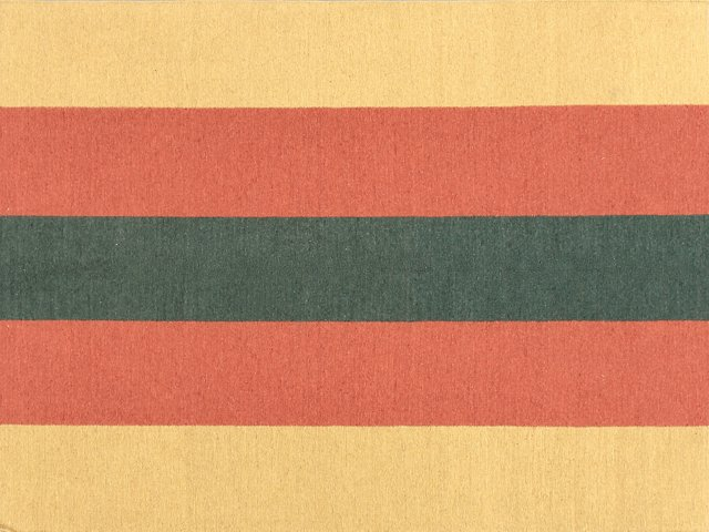 "5'11""x8'1"" Stripe Soumak Rug, Orange/Red"