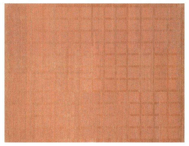 """5'2""""x6'9"""" Quadrado Rug, Terracotta"""