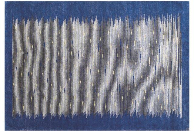 Shimmer Rug, Cobalt/Wasabi