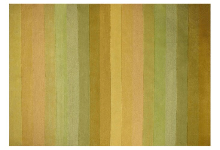 "4'8""x6'7"" Terraza Rug, Yellow/Lime Green"