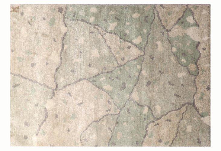 2'x3' Urban Concrete Rug, Gray/Sea Green