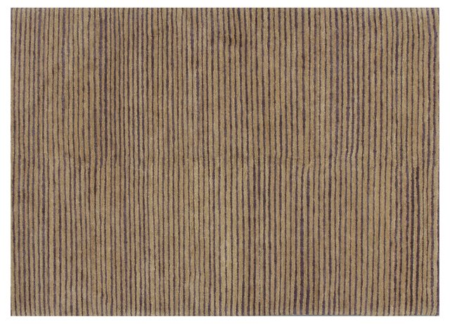 "4'8""x6'7"" Sal Rug, Taupe/Lavender"